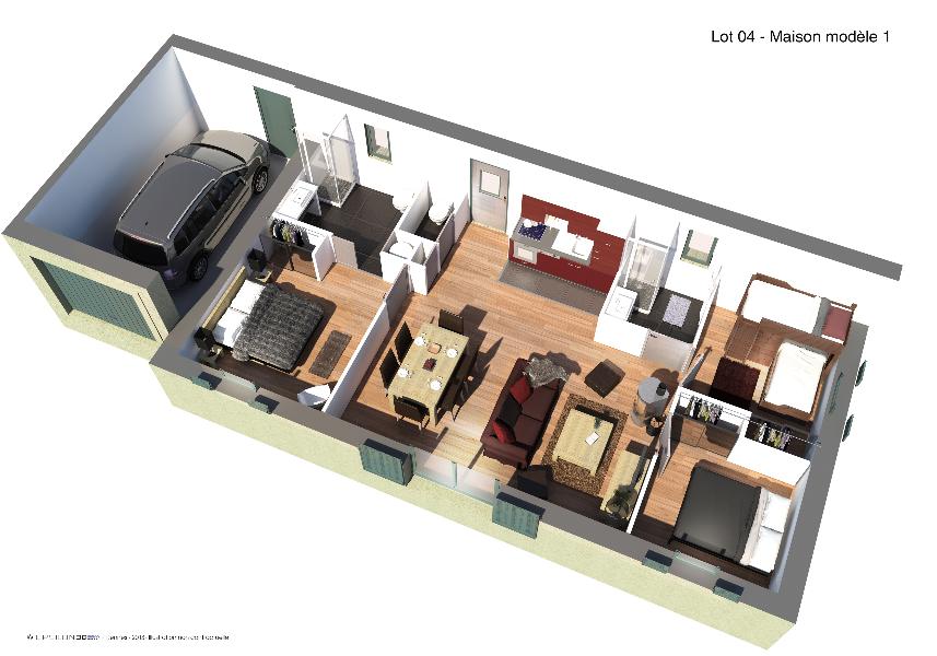 Les BOSQUETS - Plan 3D 2