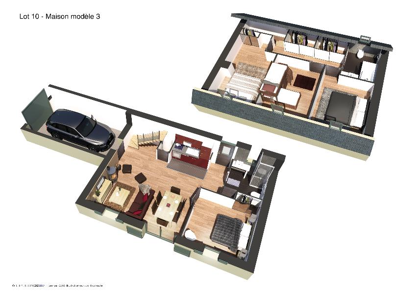 Les BOSQUETS - Plan 3D 1