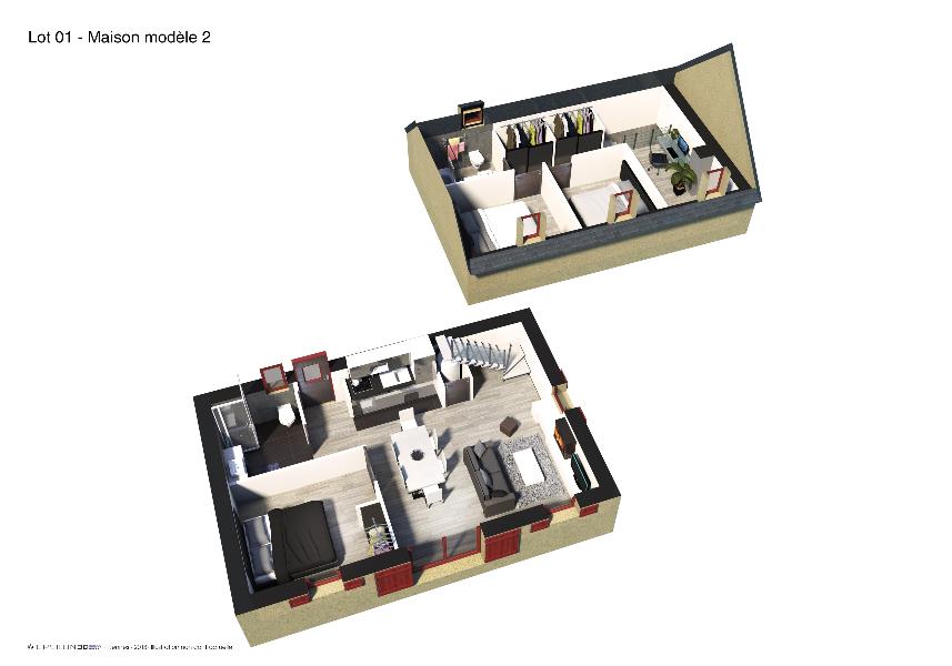 Les BOSQUETS - Plan 3D 3